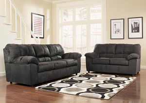 Dominator Black Sofa & Loveseat