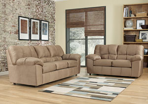 Dominator Mocha Sofa & Loveseat
