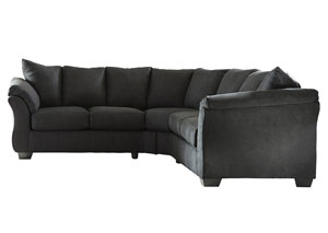 Darcy Black Loveseat Sectional