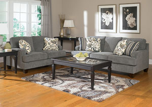 Yvette Steel Sofa & Loveseat