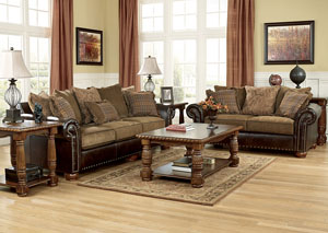 Briar Place Antique Sofa & Loveseat