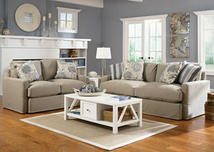 Addison Khaki Sofa & Loveseat