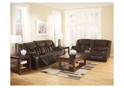 Tafton Java Reclining Sofa & Loveseat