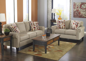 Ekron Oatmeal Sofa  & Loveseat