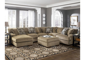 Grenada Mocha Left Facing Chaise Sectional