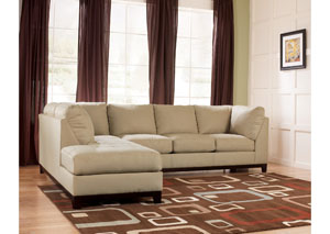 Fusion Khaki Left Facing Chaise Sectional