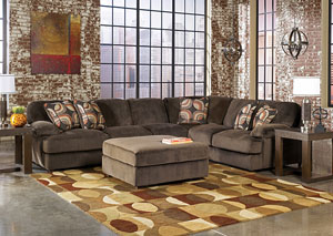 Truscotti Cafe Extended Sectional & Ottoman