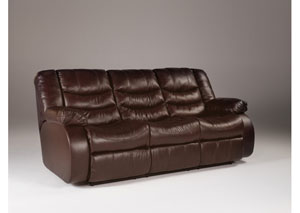 Revolution Burgundy Reclining Sofa