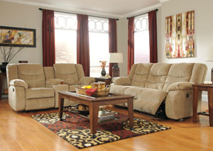 Garek Sand Reclining Sofa & Loveseat