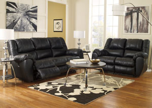 McAdams Black Reclining Sofa & Loveseat