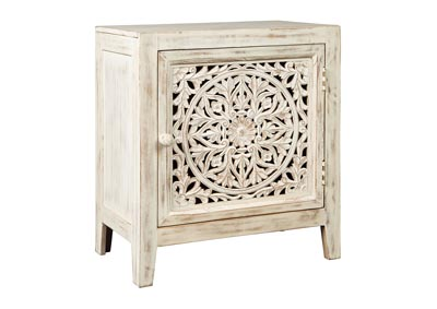 Fossil Ridge White Accent Cabinet