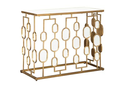 Majaci Gold Finish Console Table