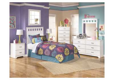 Lulu Twin Panel Headboard w/Dresser & Mirror