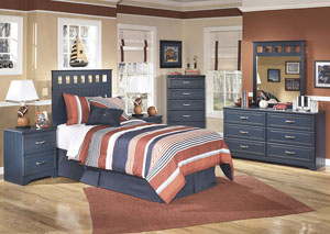 Leo Twin Panel Headboard w/Dresser & Mirror