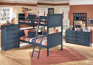 Leo Twin/Twin Bunk Bed w/Dresser & Mirror