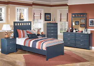 Leo Twin Panel Bed w/Dresser & Mirror