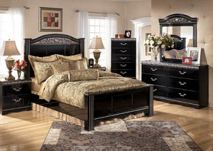 Constellations Queen Poster Bed, Dresser, Mirror & Chest