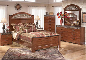 Fairbrooks Estate Queen Poster Bed, Dresser, Mirror & Night Stand