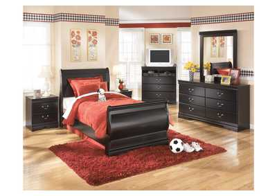 Huey Vineyard Full Sleigh Bed