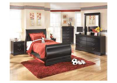 Huey Vineyard Full Sleigh Bed, Dresser, Mirror, Chest & Night Stand