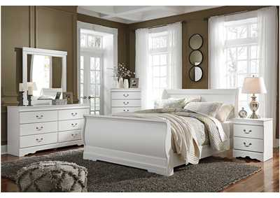 Anarasia White Bedroom Dresser w/Mirror