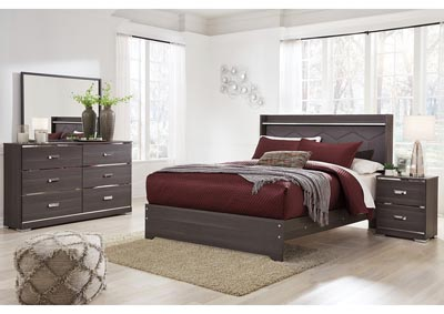 Annikus Gray Bedroom Dresser w/Mirror