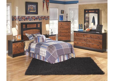 Aimwell Twin Panel Headboard w/Dresser & Mirror