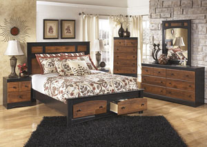 Aimwell Queen Storage Platform Bed, Dresser & Mirror