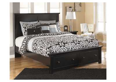 Maribel Black Queen Storage Platform Bed