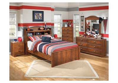 Barchan Full Bookcase Bed w/Dresser & Mirror