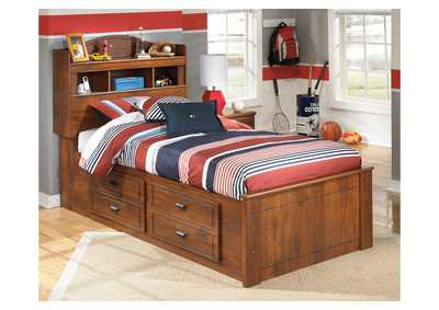 Barchan Twin Bookcase Storage Bed