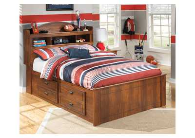 Barchan Full Bookcase Storage Bed