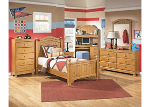 Stages Twin Poster Bed, Dresser, Mirror & Chest