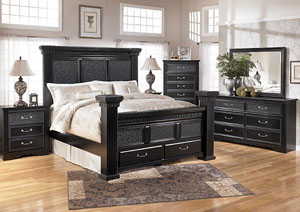 Cavallino Queen Mansion Bed w/ Storage