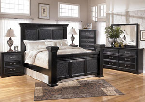 Cavallino Queen Mansion Bed, Dresser, Mirror & Chest