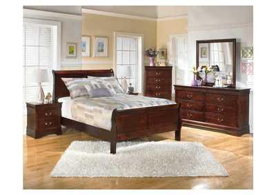 Alisdair Full Sleigh Bed, Dresser, Mirror, Chest & Night Stand