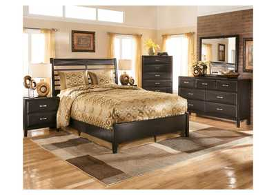 Kira Queen Panel Bed, Dresser, Mirror, Chest & Night Stand