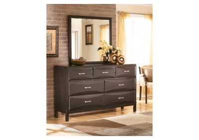 Kira Black Bedroom Dresser w/Mirror