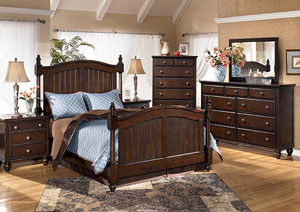 Camdyn Queen Poster Bed, Dresser & Mirror