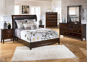 Templenz Queen Panel Bed, Dresser & Mirror