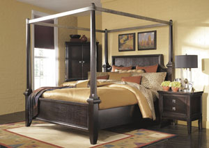 Martini Suite California King Poster Bed