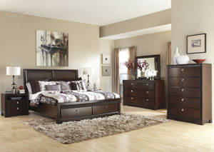 Marxmir Queen Storage Bed, Dresser & Mirror