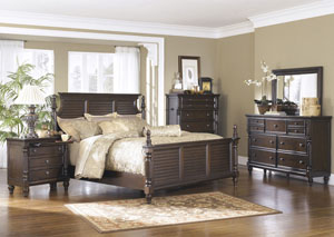 Key Town Queen Panel Bed, Dresser & Mirror