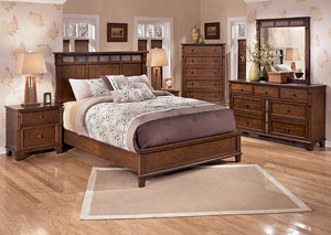 Owensboro Queen Panel Bed, Dresser & Mirror