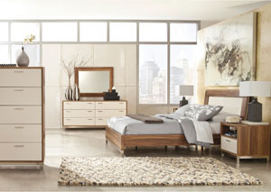 Candiac Queen Panel Bed, Dresser & Mirror