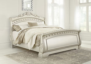 Cassimore Pearl Silver California King Sleigh Bed