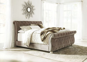 Cassimore Pearl Silver California King Upholstered Bed