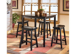 Conrad Counter Height Table w/ 4 Bar Stools