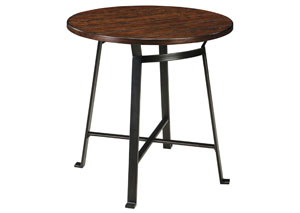 Challiman Rustic Brown Round Bar Table