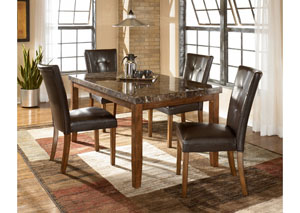 Lacey Rectangular Dining Table & 4 Side Chairs